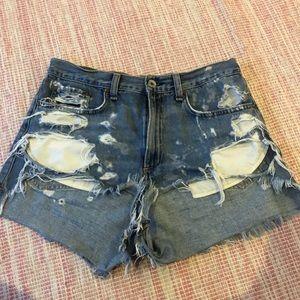 Rag&Bone ripped jean shorts